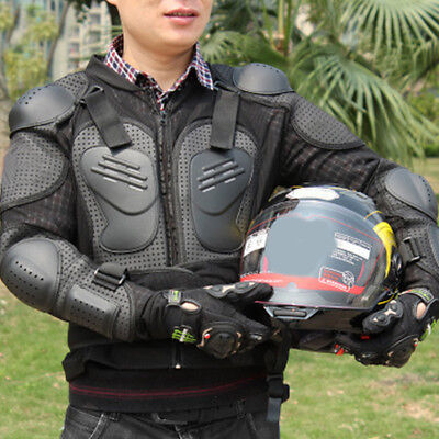 New Motorcycle Full Body Armor Jacket Motocross Racing Spine Chest Protecto Gear