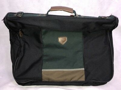 "American Tourister Garment Bag Folding Carry On Black Many Pockets 38"" Long"