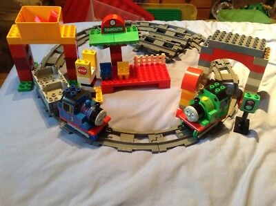 Lego Duplo Thomas The Tank Engine 5543 Percy At The Sheds5554 Load