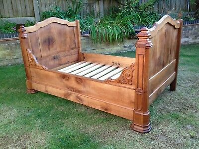 Antique Victorian Style French Bed frame One Sided Old Vintage Repair Reclaimed