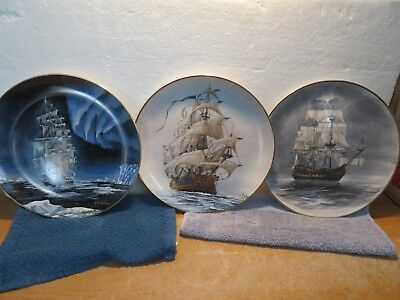 Ships of the Seas Plates The Flying Dutchman Refanu & Rescue with Box's & COA's
