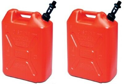 (2) Scepter 05086 RV520S 5 Gallon US/20 Military Style Carb Compliant Gas Cans
