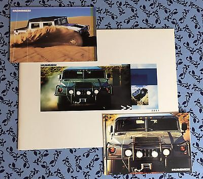 2001 Am General Hummer H1 Sales Promo Catalog + 2 Rare Oem Postcards! Set New