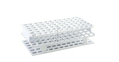 Heathrow Scientific HS27511A OneRack Tube Rack, POM, 13 mm, 72 Place, White 8ct
