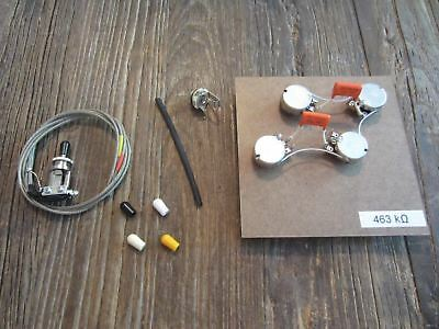 50s Les Paul Pre-Wired Harness Bourns PDB241 Short Pot, Switchcraft Short Toggle