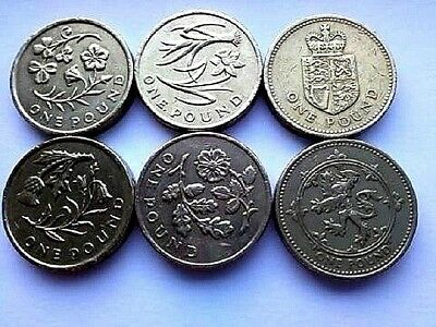 Rare £1 One Pound Circulated Coins 1983-2017 Rare 1999 Bu 2016 Bu & Capital Set