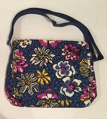 099138f824f1 Vera Bradley MESSENGER African Violet School Book Bag Campus Crossbody  Shoulder