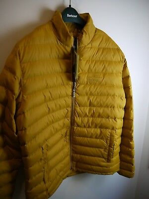 Barbour Men's Templand Quilted Puffer Jacket, Yellow, New With Tags, Medium