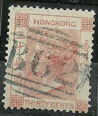 Hong Kong Old Stamp Thirty Cents 1863 Great Postmark
