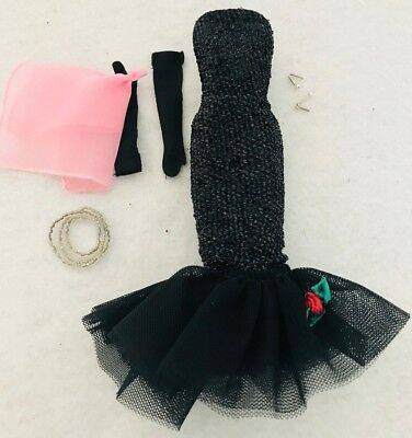 New Barbie Doll Reproduction Repro Solo In the Spotlight Black Dress Only