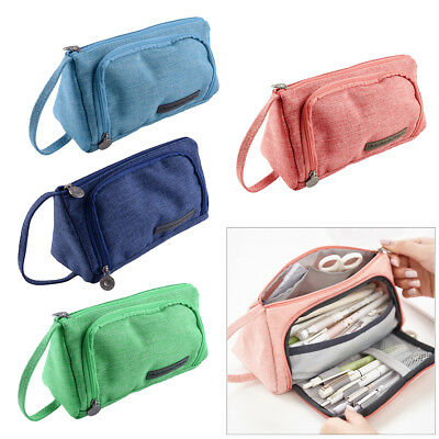 Hot Large Capacity School Pencil Case Pen Bag Pouch Stationery Box Student
