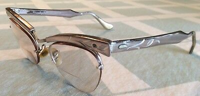 Vintage Bausch & Lomb Semi Rimless Cats Eye Glasses 1/10 12k Gold filled