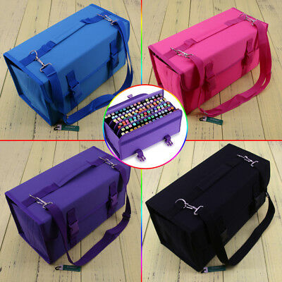 4Colors 120 Slots Layer Holder Marker Pen Case Bag Storage Carrying Portable Art