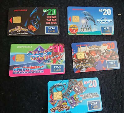 1997 $20 Set - Visa Cash Cards - Released In Queensland Only -Rare - 5 In Set