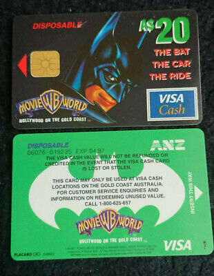 1997 $20 - Visa Cash Card - *batman* - Released In Queensland Only - Rare