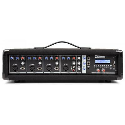 Power Dynamics Powered PA Mixer 4-Channel 800W with Echop FX &USB MP3 player