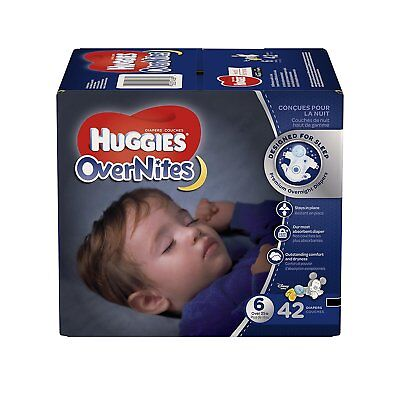 ***NEW*** Huggies Overnites Diapers Size 6, 42 Count ***FREE SHIPPING***