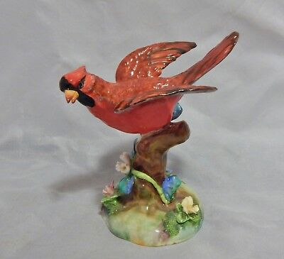 Crown Staffordshire Cardinal Bird Figurine by J.T. Jones