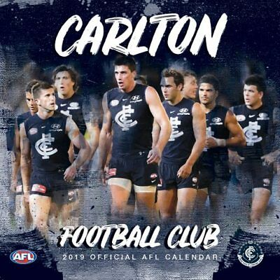 NEW Official Carlton Blues 2019 AFL Calendar