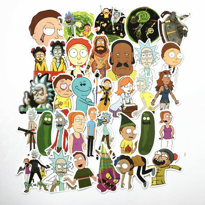 50 Rick And Morty Sticker Bomb Pack Euro Dub Vw Skateboarding