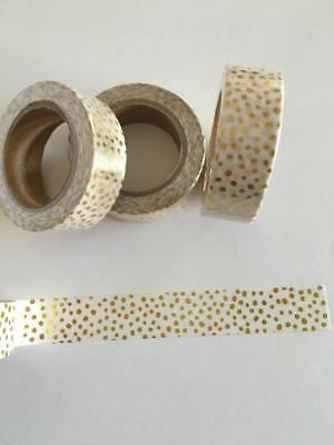 Gold confetti washi tape, Gilded Washi Tape, Gold foil, Planner accessories