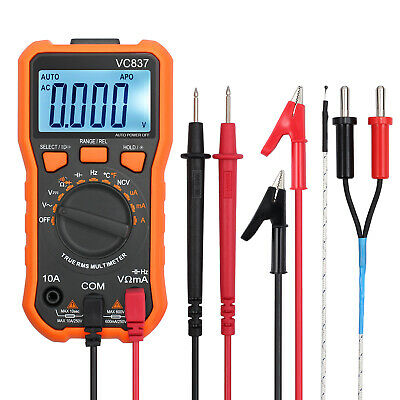 LCD Digital Volt Meter Multimeter OHM Current Voltage Meter & 3 pairs Test Leads