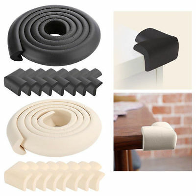 Baby Safe Soft U Bumper Strip Corner 2M Edge Foam Guard Cushion Home Room Table