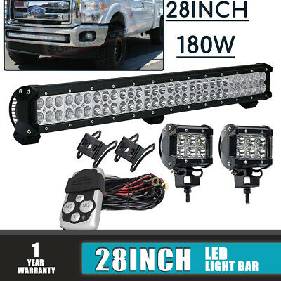 DOT 30'' LED Light Bar+Bracket+Pods Kit For Polaris UTV RZR XP1000 900 570 800