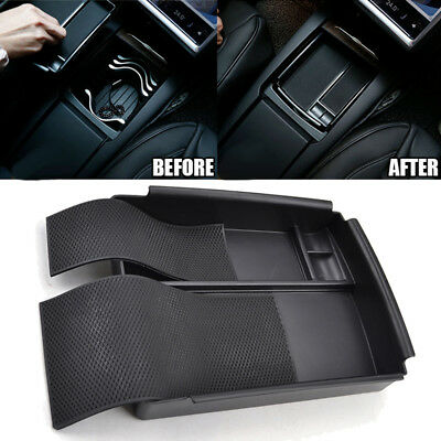 Use Car Armrest Storage Organizer Tray Box For 16-18 Tesla Model X/S Accessories