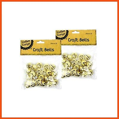 288 x GOLD CRAFT BELLS 2cm | Holiday Decoration Jingle Bells Charms Christmas