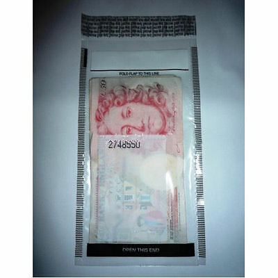 Plastic Tamper Evident Note / Money / Bank / Cash Bags …25/50/75/100