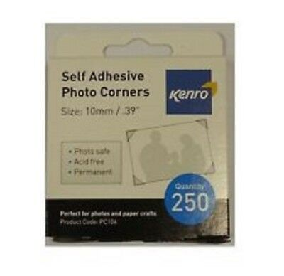 Kenro 250 Self Adhesive Photo Corners Acid Free Traditional Album Crafts Sticker