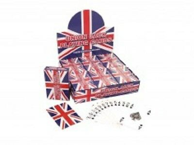 Cards Playing Union Jack Plastic Coated 9x6cm