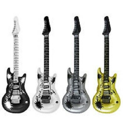 INFLATABLE BLOW UP GUITAR - ROCK & ROLL FANCY DRESS PARTY NOVELTY pack of 1