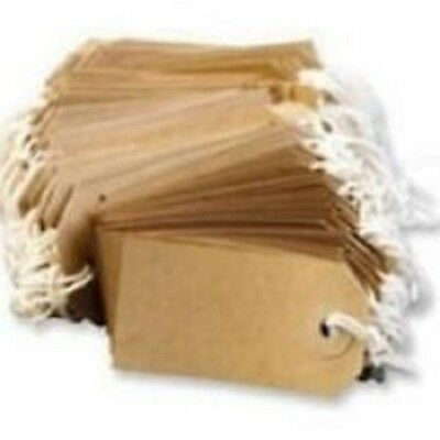 50 LARGE Brown/Buff (Manilla) Strung 134x67mm Tag/Tie On Luggage Craft Labels 5
