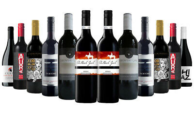 OVER 1700 SOLD! Red Wine Mixed ft Printhie 12x750ml RRP$249 Free Shipping/Return