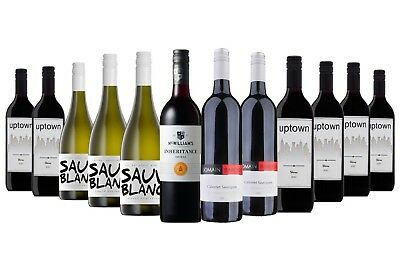 $89 Delivered AU Red Wine & White Mixed 12x750ml Free Shipping RRP $219