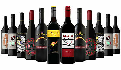 AU Favourite Red Mix with Yellow Tail Shiraz RRP$219 Free Shipping 12x750ml