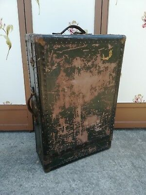 Vintage Antique Langmuir Hartmann Tourobe Wardrobe Steamer Trunk Baggage 1920s