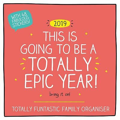 Happy Jackson Family Planner Official 2019 Wall Calendar New & Sealed