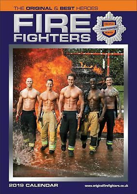 Firefighters Official 2019 Wall Calendar A3 New & Sealed