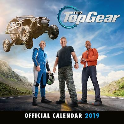 Top Gear Official 2019 Wall Calendar New & Sealed