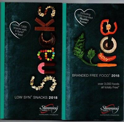 Slimming World Low Syn Snacks And Free Branded Foods 2018 Books Bn