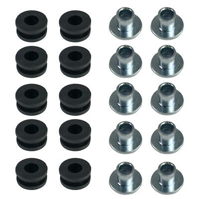 10pcs 6mm Rubber Side Cover Grommets Motorcycle Fairings for Honda Yamaha HB1