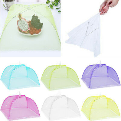 Large Pop-Up Mesh Screen Protect Food Cover Tent Dome Net Umbrella Picnic UK