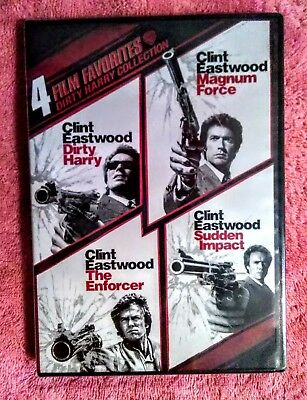 DIRTY HARRY COLLECTION:BRAND NEW-SEALED; 4 FILM FAVORITES (DVD, 2010, 2 DiscS)