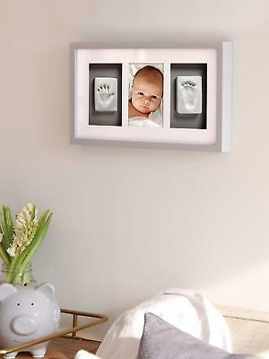 Baby Hand And Foot Print Kit Deluxe Wall Keepsake Frame W/ Clay Imprint Set NEW