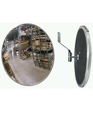 """Lot Of 2 Industrial 12"""" Acrylic Safety & Security Convex Mirror"""