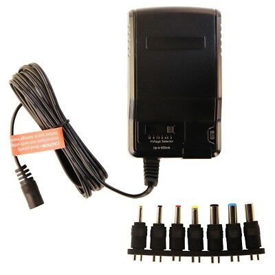 Insignia AC to DC Power Adapter with 7 Common Connector Tips - Black (NS-AC501)
