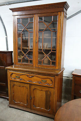 Victorian Walnut Secretaire Bookcase